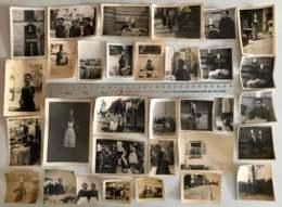 29 - Plogastel-Saint-Germain Lot De 32 Photos Originales - Bigoudènes Années 1941/42 Sous L'occupation Probable #09134 - Costumes