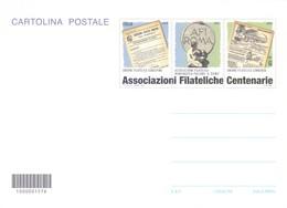 CARTOLINA POSTALE ASSOCIAZIONI FILATELICHE CENTENARIE 2014 - 6. 1946-.. Repubblica