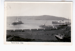 CHILE Puerto Corral Ca 1920 OLD PHOTO POSTCARD 2 Scans - Cile