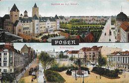 F - Posen (Poznan, Pologne) - Stadtbild Am Kgt Schloss - Wilhelmsplatz - Pologne
