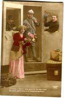 CPA  Militaire - Soldat - COUPLE 1916 ( Guerre 1918) - Patriotiques