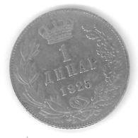 YOUGOSLAVIE - YUGOSLAVIA - 1 DINAR 1925 - Yougoslavie