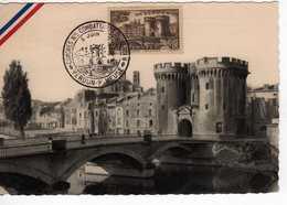 Carte Maximum Avec N°445 Verdun Oblitérée Congrés National Des Combattants 1949  Cote Yvert : E2  90E - Maximum Cards