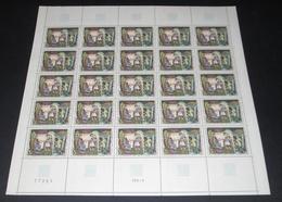 France 1969 Neuf** N° 1588 Tableau  Abbaye De St Savin Feuille Complète (full Sheet) 25 Timbres - Feuilles Complètes