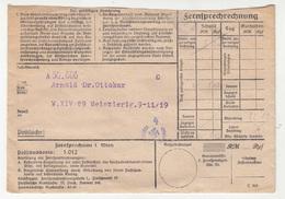 Germany Fernsprechrechnung Letter Cover B181101 - Briefe U. Dokumente
