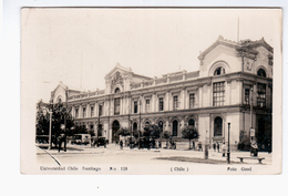 CHILE Santiago Univesidad Foto Cood Ca 1920 OLD PHOTO POSTCARD 2 Scans - Cile