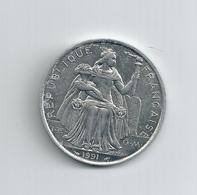 Pièce 5 Francs 1991 Nouvelle Calédonie TB ALUMINIUM BAZOR - Nouvelle-Calédonie