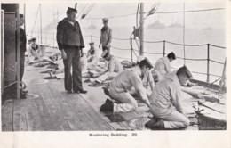 AN69 Royal Navy Postcard - Mustering Bedding - Warships