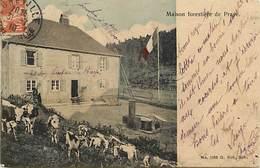 - Vosges -ref-B66- Moussey - Maison Forestiere De Prayé - Maison S Forestières - Drapeau Français - Materiel De Laveuse - Moussey