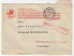 Verlag Der Carl Ueberreuter Wien Company Letter Cover Travelled 1946 Wien Gebühr Bezahlt Postmark B181101 - 1945-60 Lettres