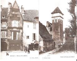 SARLAT LA CANEDA. 2 CP Repro Cpa Maisons De La Boétie - Moulin De Moreau - Sarlat La Caneda
