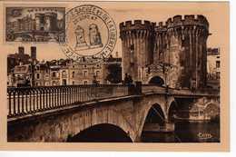 Carte Maximum Avec N°445 Verdun Oblitérée Carrefour Des Voies Sacrée Et De La Liberté 20/9/47  Cote Yvert : B1  110E - Maximum Cards