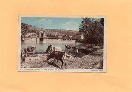 Carte Postale - ST VALLIER - D26 - Pont Suspendu Sur Le Rhône - France