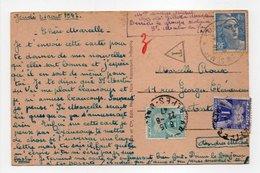 - Carte Postale SAINT-MARTIN-DU-VAR Pour ANTIBES 21.8.1947 - Taxée 2 F. + 1 F. Type Gerbes - A ETUDIER - - 1859-1955 Storia Postale