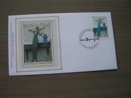 """BELG.2005 3349 FDC Silk-soie-zijde  """" Promotie Van De Filatelie""""   (album 111) - 2001-10"""
