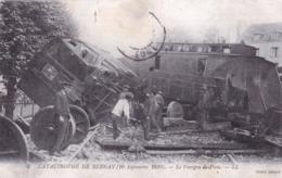 27 - Eure -  Catastrophe De BERNAY - 10 Septembre 1910 - Le Fourgon De Poste - Accident Chemin De Fer - Bernay