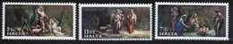 Malta Complete Set Of Stamps To Celebrate Christmas 1977. - Malta