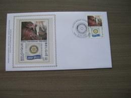 "BELG.2005 3352 FDC Silk-soie-zijde  ""100 Jaar Rotary International - Actie ""polio Plus""   (album 111) - 2001-10"