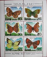 Korea  North  1991  S/S   MNH - Papillons