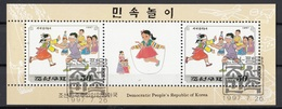 DPR Korea 1997 Sc. 3649a Folk Games Bllndman's Bluff Mosca Cieca Sheet CTO - Giochi