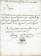 Rév. 2 Avril 1792 - Le 36° Régiment D'ANJOU INFANTERIE Est Complet. - Historische Dokumente
