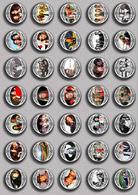 SHEILA Music Fan ART BADGE BUTTON PIN SET 5 (1inch/25mm Diameter) 35 DIFF - Musique