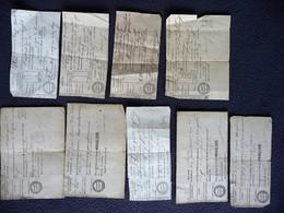 13 RECUS D' OCTROIS Pour Le Transport De MARCHANDISES  En 1860, Dans L'Aveyron - France