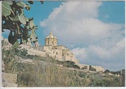 MALTA  MDINA  CATHEDRALE    VIAGGIATA  BELLE FRANCOBOLLI  NICE STAMP - Malta