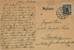 TP N° 332  (Y&T) Sur Carte Postale De Elbing Pour Hamburg - Covers & Documents