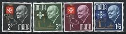 Malta Complete Set Of Stamps To Celebrate Churchill Commemoration 1966. - Malta
