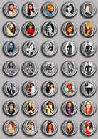 SHEILA Music Fan ART BADGE BUTTON PIN SET 6 (1inch/25mm Diameter) 35 DIFF - Musique
