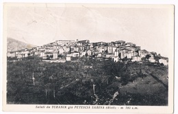 Cartolina - Postcard / Viaggiata - Sent / Saluti Da Turania Già Petescia Sabina (Rieti) - Rieti