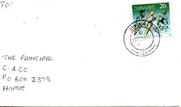 ZIMBABWE. N°199 De 1990 Sur Enveloppe Ayant Circulé. La Vie Au Zimbabwe. - Zimbabwe (1980-...)