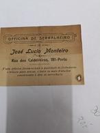 PORTUGAL OFFICINA DE SERRALHEIRO JOSE LUCIO MONTEIRO R.DOS CALDEIREIROS 181 PORTO - Portugal