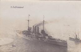 """Alte Ansichtskarte Des Großlinenschiffs """"Ostfriesland"""" - Guerre"""