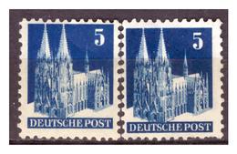 All.Besetzg., Bizone, Nr. 75 WVB+F, Postfrisch - American/British Zone