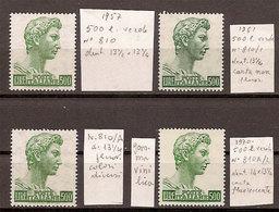 """(Fb).Repubblica.500 Lire Verde """"S. Giorgio"""" Nelle 4 Emissioni (240-18) - 6. 1946-.. Republic"""
