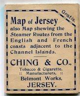 JERSEY(CARTE) PUBLICITE CIGARETTE - Cartes