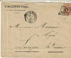TP N° 31 Seul Sur Lettre De Vitry Le François, Oblitération GC 4308 Pour Langres - 1862 Napoléon III