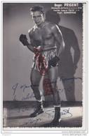 Au Plus Rapide Photo Format Carte Photo Roger Prigent Boxe Boxeur à André Esparraguerra * .... - Dédicacées