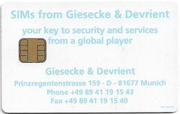 Giesecke & Devrient SIM Promo Card - Unclassified