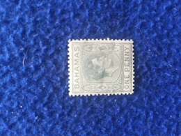 Vtg. Bahamas One Penny KGVI Stamp 1938-1945 MLH Note Watermark - America (Other)