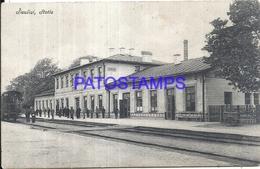 102936 LITHUANIA LITUANIA STOTIS STATION TRAIN POSTAL POSTCARD - Lithuania