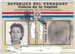 CEDULA PARAGUAY FEMENINA FEMENINE IDENTITY DOCUMENT AÑO 1986 -BLEUP - Historical Documents
