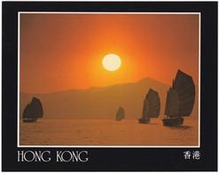 HONG KONG. JUNKS NEAR LEI YUE MUN. UNPOSTED - China (Hong Kong)
