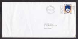 Slovenia: Cover, 1992, 1 Stamp, Heraldry, Independence, Cancel Koper-Capodistria (minor Damage, See Scan) - Slovenië