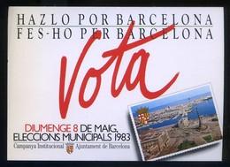 Barcelona. *Eleccions Municipal 1983* Ed. Ajuntament. Circulada. - Partidos Politicos & Elecciones