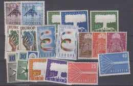 Europa Cept 1957 Year Set 9 Countries 18 Values ** Mnh (original Gum !!!) (41256) - Europa-CEPT