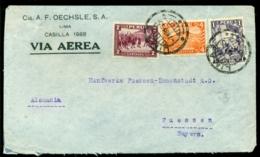 Peru 1935 Airmail Cover To Füssen (Germany) - Pérou
