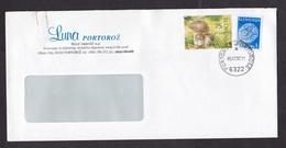 Slovenia: Cover, 1997, 2 Stamps, Mushroom, Fungus, Lace, Cancel Portoroz-Portorose (small Paperclip Stain At Left) - Slovenië